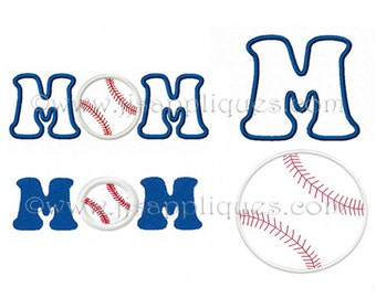 Instant Download - Baseball Embroidery Design - Baseball Mom embroidery applique design 4x4, 5x7, 6x10 hoops