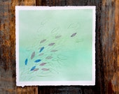 Green Spring Painting, Whimsical Abstract Painting, Poetic, Watercolor on Paper