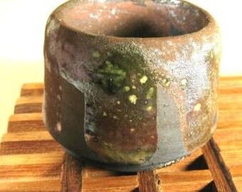 Small Vintage Studio Art Raku Pot Ceramic