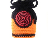 Naruto Inspired Shippuden Theme Power Pouch. Ninja Dice Bag. Cosplay. MTG Anime Manga Card Bag. Gamer Makeup Bag. Nintendo DS Case. Dice Bag