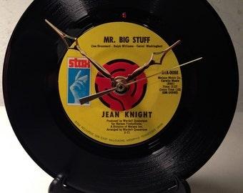 Recycled JEAN KNIGHT Record / Mr. Big Stuff / Record Clock