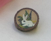 Pin - Hand Painted -  Bunny - Miniature