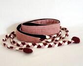 "Mini Obi belt ""Rose petal"" - braided straps belt"
