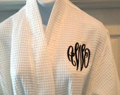 Plus Size Waffle Weave Bathrobe with Monogram Included Free Shipping