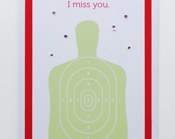 Funny Illustrated I Miss You Target Card