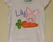 Easter Bunny with Carrot Children's Shirt or Onesie