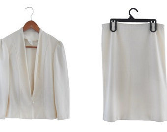 60s Suit Spring Wedding 1960s Suit 60s Clothing Women 60s Clothes Wedding Suit Women 1960s Wedding Ivory Wedding Suit Wedding Skirt Suit