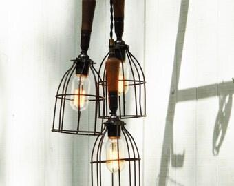 Hanging Vintage Pendant Lighting - Vintage Worklights - Unique Hanging Lights