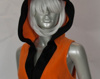 Orange Fox Cropped Hood