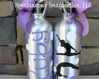 SALE Personalized Girls Gymnastics Water Bottle Gift Ideas