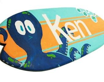 Octopus Wall Decor - Ocean Themed Decor - Customized 18 inch Beach Nursery Art