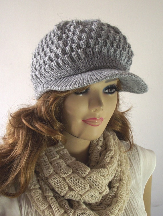 Cable Knit Newsboy Hat Pattern Tutorial