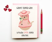 Haters Gonna Hate funny quirky cheeky sweet eco friendly doodle illustration bday card for best friend bestie girlfriend girly cat lover