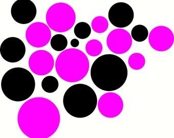 100 vinyl dots