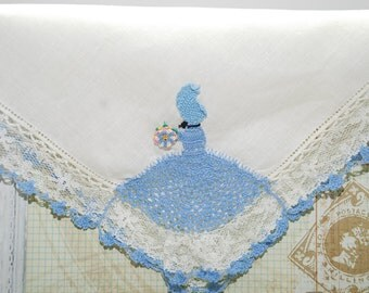 Vintage Handkerchief Lace Edging Crochet Adornment