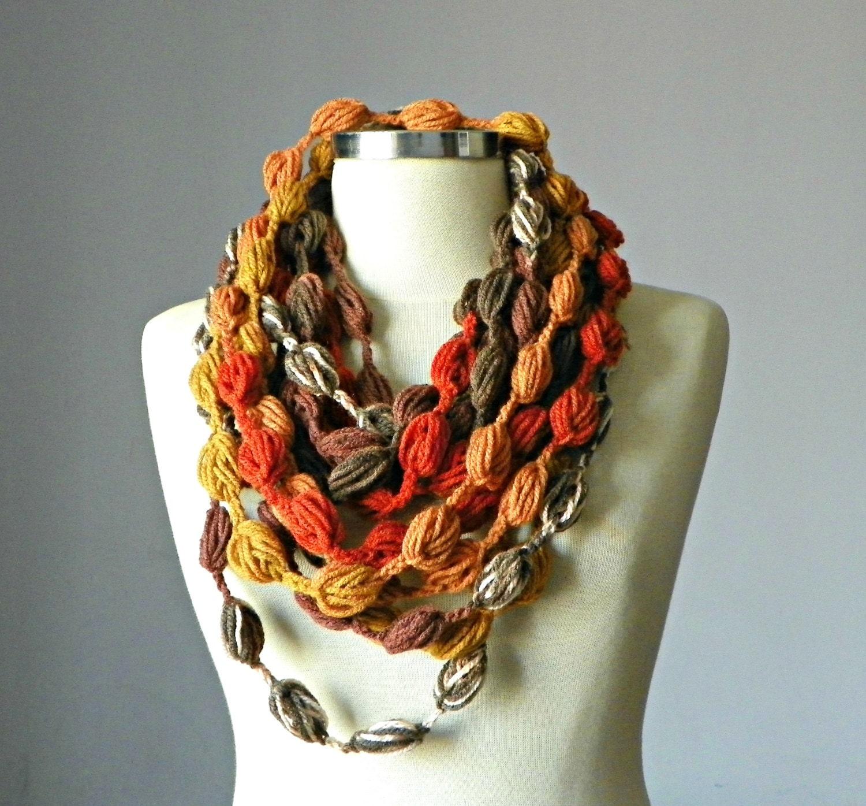 sale crochet scarf infinity scarf fiber by yarnisland
