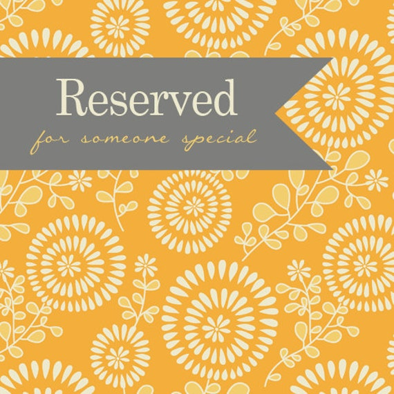 Reserved listing for Britt S.