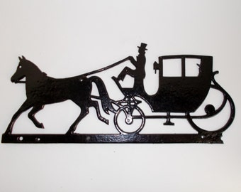 Farm Tractor #1 Metal Art Silhouette Welcome Sign New ... |Metal Horse And Buggy Silhouette