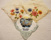 Vintage Handkerchief Collection from Canada - Windsor, Fort Williams, Winnipeg