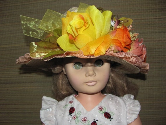 tea party hat dress up hat play hat for little girl by anndances. Black Bedroom Furniture Sets. Home Design Ideas