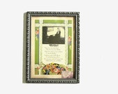 """Framed Art Poetry Motto Card Mother Art Deco """"Whistler's Mother"""" Colorful Gift Tribute to Mom Gift For Mom"""