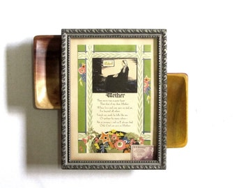 """Framed """"Whistler's Mother"""" Motto Card Mother Art Deco Poetry Colorful Gift Tribute to Mom Gift For Mom Gifts Under 20"""