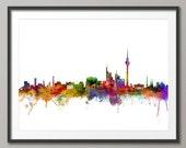 Berlin Skyline, Berlin Germany Cityscape Art Print (1269)