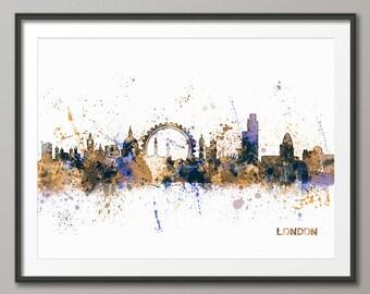 London Skyline, London Cityscape England, Art Print (983)