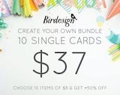 Custom cards bundle - 10 cards - Special templates promo