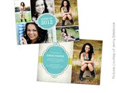 INSTANT DOWNLOAD - Graduation announcement - Photoshop Templates - E436