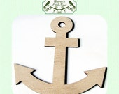 Anchor / Nautical  (Small) Wood Cut Out -  Laser Cut