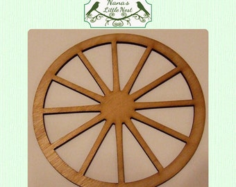 Wagon Wheel - (Small) Wood Cut Out -  Laser Cut