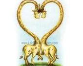 Love Giraffe Print