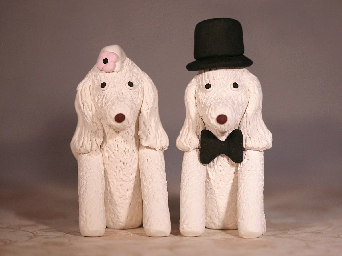 Poodle Dog Wedding Cake Topper