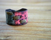Life Balance Collection Bungalow Style Hand Dyed Leather Ring, Boho Chic Ring, Unisex Ring, Leather Band, Bungalow Style