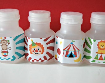 Circus Party Bubbles, Party Favor Bubbles, Big Top Party Favor, Carnival Prizes