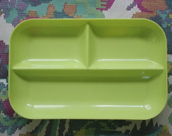Vintage Chartreuse Maherware Divided Plate