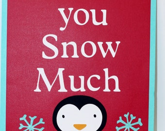 Winter Onederland Thank You Sign, Winter Wonderland, Penguin Birthday, Penguin party