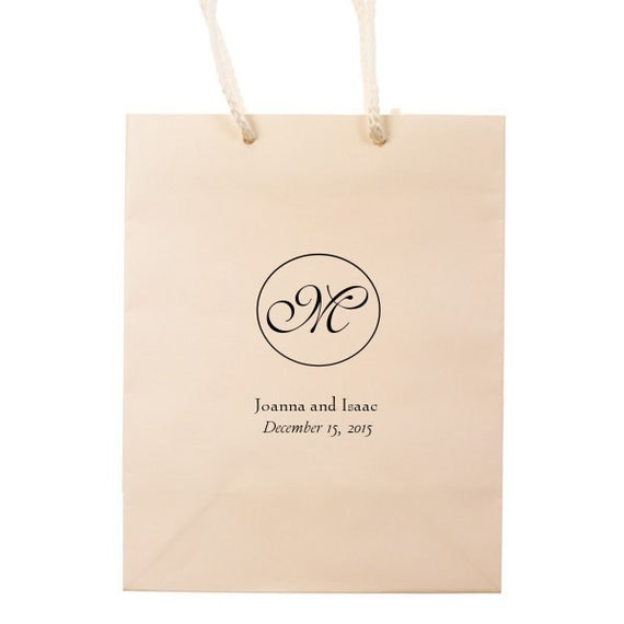 Hotel Welcome Bags Monogram Wedding Guest Personalized Wedding Favors ...