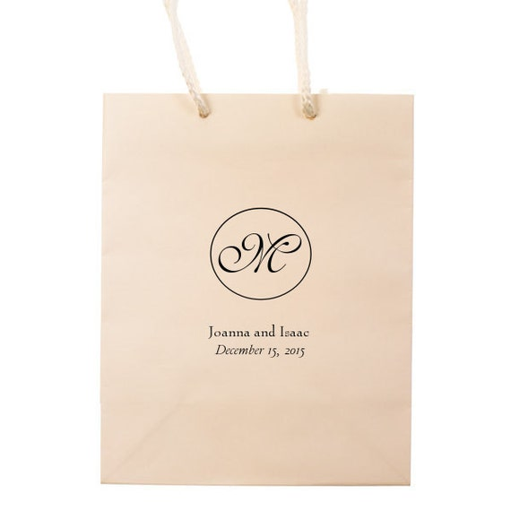 Wedding Gift Bags Etsy : Wedding Guest Personalized Wedding Favors Foil Stamped Tote Gift Bags ...