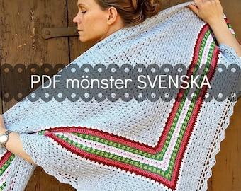 Virkmönster Den Nordiska sjalen SVENSKA - av Annette Ciccarelli, My Rose Valley