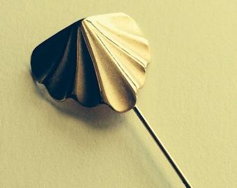Vintage Gold Tone Hat Stick Pin