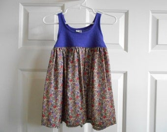 Slip On Dress - 18 Months Purple Flower - 0.01 Shipping Cost