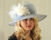 Kentucky Derby, Wedding, Church Hat in Blue