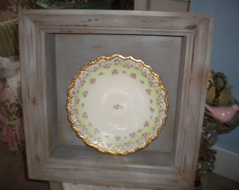 Unique Vintage Re Purposed Wood Shadow Box, Primitive, Country, Shabby Chic, French, French country, Farmhouse