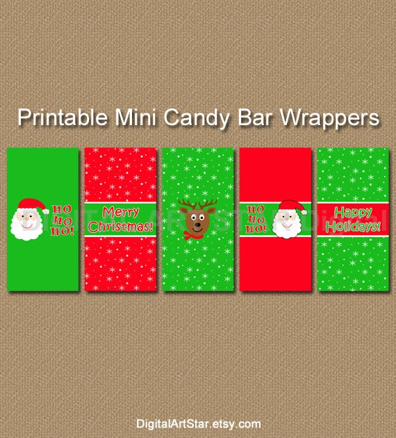 Printable christmas candy wrappers candy bar wrappers diy for Diy candy bar wrapper