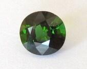 Natural Green Tourmaline, Nigeria, Unheated, Oval, 7.6x7.2x4.8mm, 1.64 carat