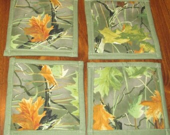 Homemade Camouflage Cloth Coasters