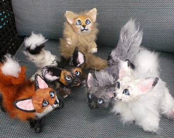 Itty Bitty Fox Kits Posable Art Dolls