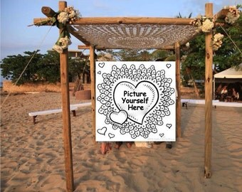 8 Foot Giant Crochet Rug Mandala White Cream Ivory Ecru June Bride Beach Wedding Lace Canopy Bed Chuppah 96 inch